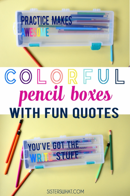 colorful school pencil boxes