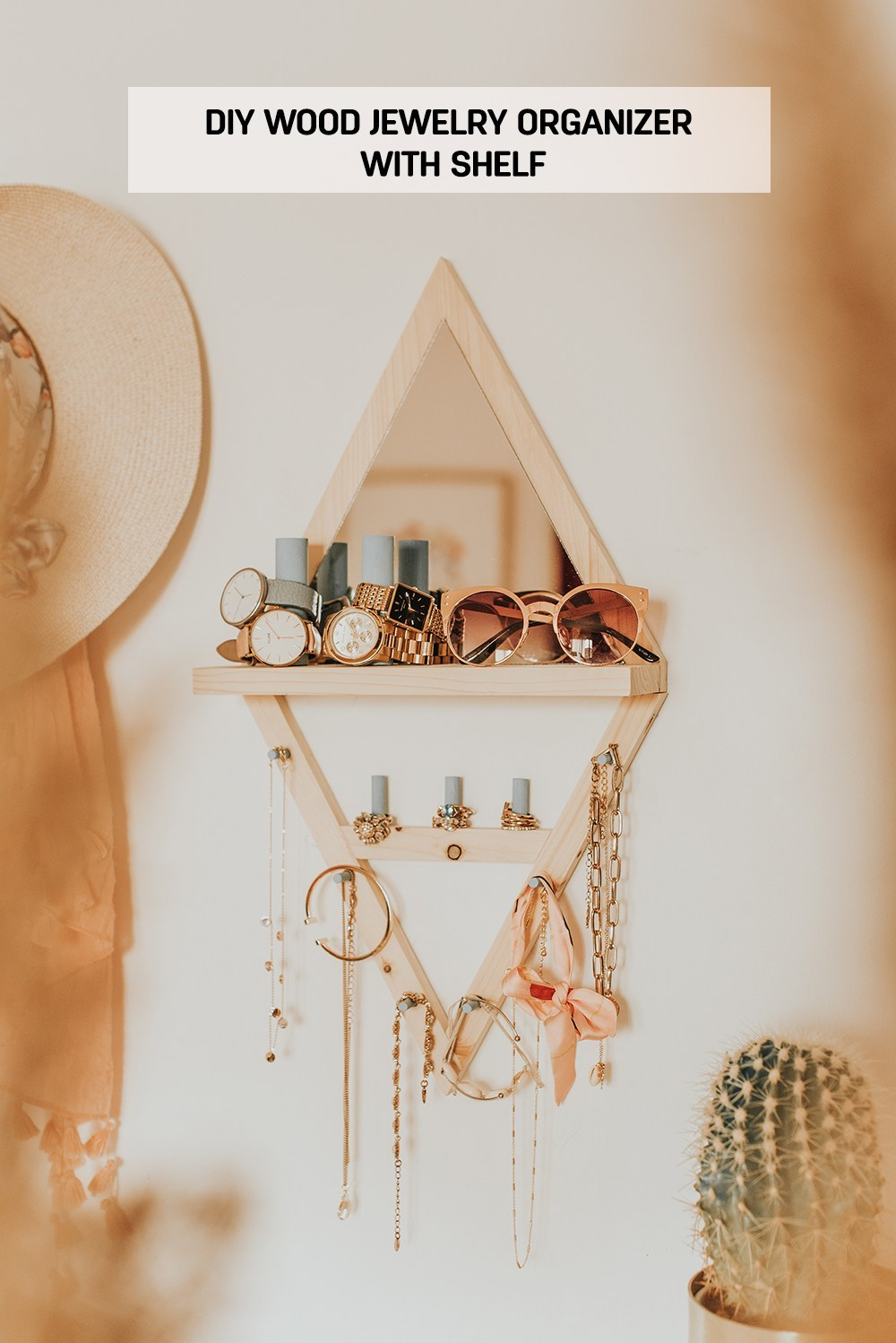 DIY-Wood-Jewelry-Organizer-With-Shelf-main