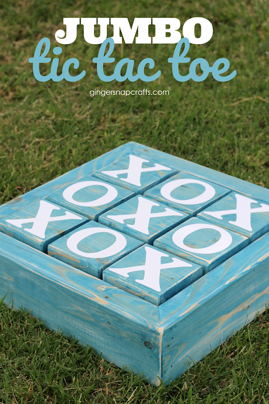 Jumbo Tic Tac Toe Board at GingerSnapCrafts.com #tictactoe #games_thumb.png
