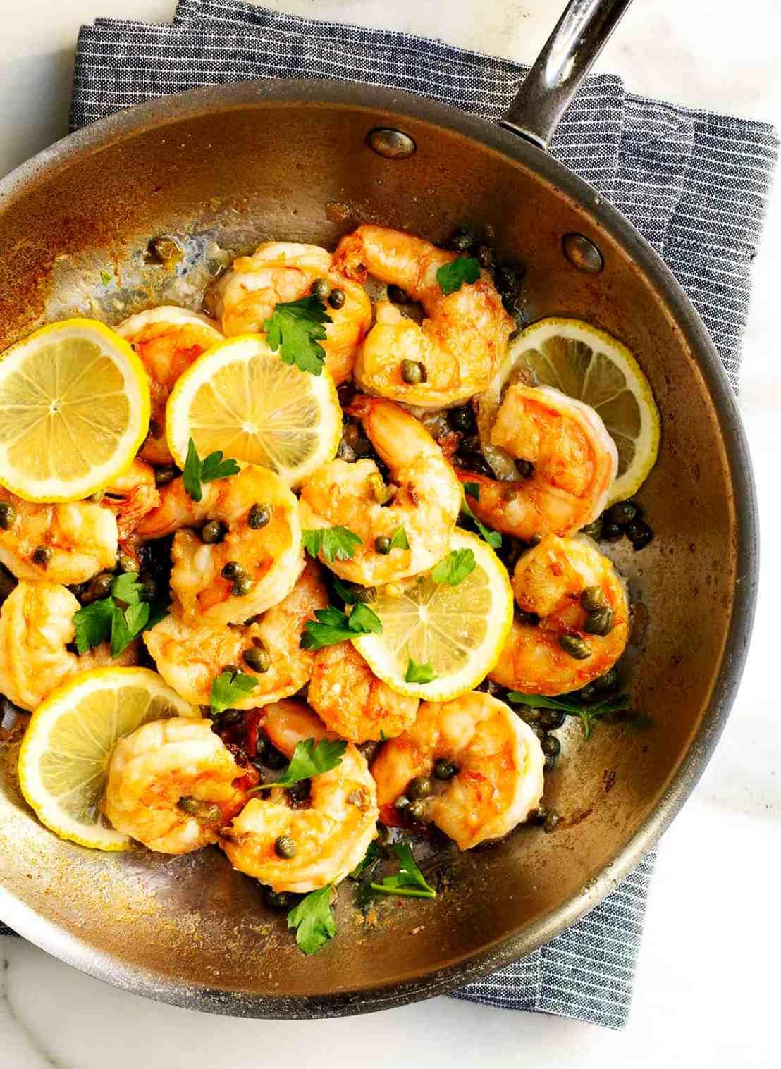 Shrimp-Piccata
